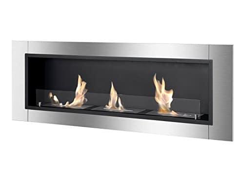 IGNIS Recessed Wall Ventless Bio Ethanol Fireplace Ardella 0