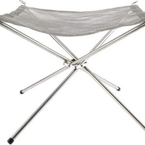 InBlossoms Portable Outdoor Camping Fire Pit Collapsing Steel Mesh Fireplace Folding Wood Burning Stove with Carry Bag 0