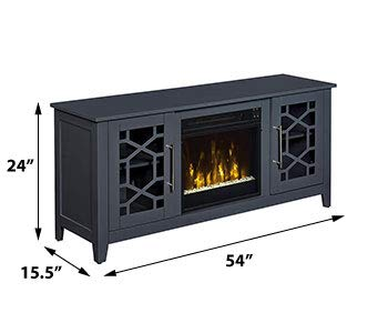 Jasmine Electric Fireplace Media Console in Cool Gray 0 1
