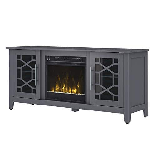 Jasmine Electric Fireplace Media Console in Cool Gray 0 3