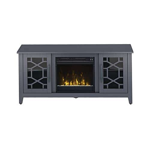 Jasmine Electric Fireplace Media Console in Cool Gray 0 5
