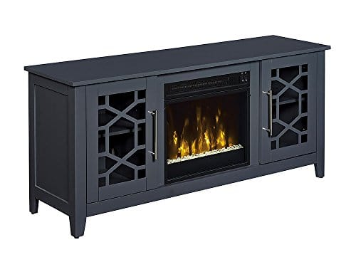 Jasmine Electric Fireplace Media Console in Cool Gray 0