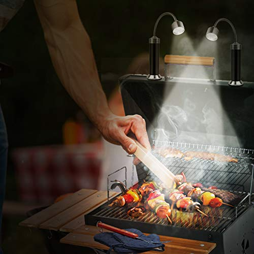 KOSIN Barbecue Grill Light Magnetic Base Super Bright LED BBQ Lights 360 Degree Flexible Gooseneck Weather Resistant Batteries Included Pack of 2 0 0