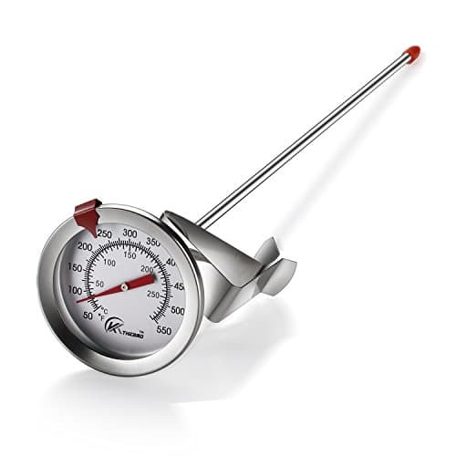 KT THERMO Deep Fry Thermometer With Instant ReadDial Thermometer12 Stainless Steel Stem Meat Cooking ThermometerBest for TurkeyBBQGrill 0