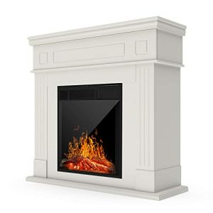 KUPPET 44 Inches Electric Fireplace Space Fireplace Heater Log Hearth with Realistic Flame and Remote Control 0