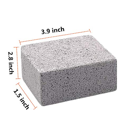 Kelfuoya Elaziy Grill Griddle Cleaning Brick BlockEcological Grill Cleaning Brick De Scaling Cleaning Stone for Removing Stains BBQ Cleaning4 Pack 0 0