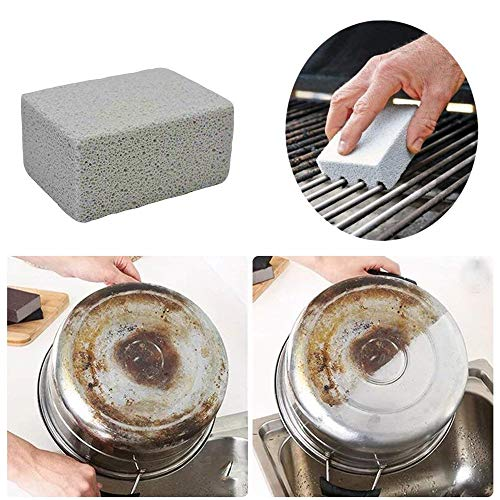 Kelfuoya Elaziy Grill Griddle Cleaning Brick BlockEcological Grill Cleaning Brick De Scaling Cleaning Stone for Removing Stains BBQ Cleaning4 Pack 0 4