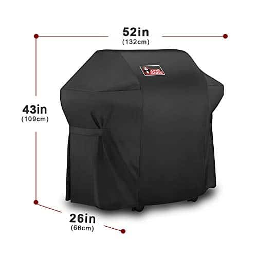Kingkong Grill Cover 7106 Cover for Weber Spirit 200 and 300 Series Gas Grill Including Grill BrushTongs and Thermometer 0 0