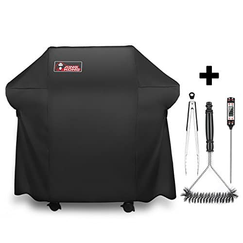 Kingkong Grill Cover 7106 Cover for Weber Spirit 200 and 300 Series Gas Grill Including Grill BrushTongs and Thermometer 0