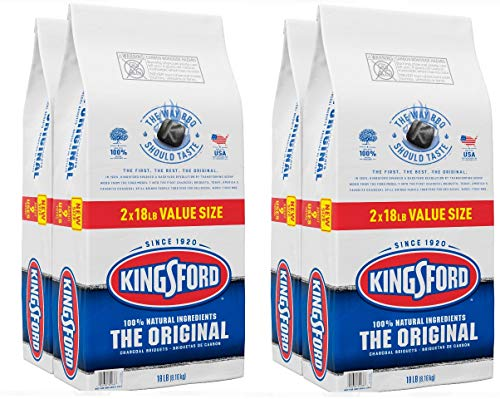 Kingsford 4 Pack Original Charcoal Briquettes BBQ Charcoal for Grilling 18 Pounds Each 0