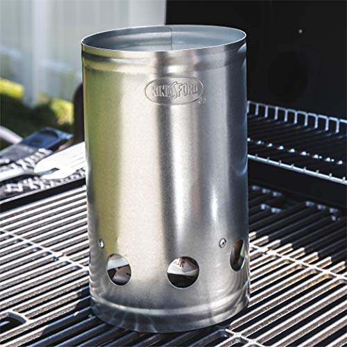 Kingsford Grilling BB0466 Deluxe Charcoal BBQ Chimney Starter Grill Silver 0 2