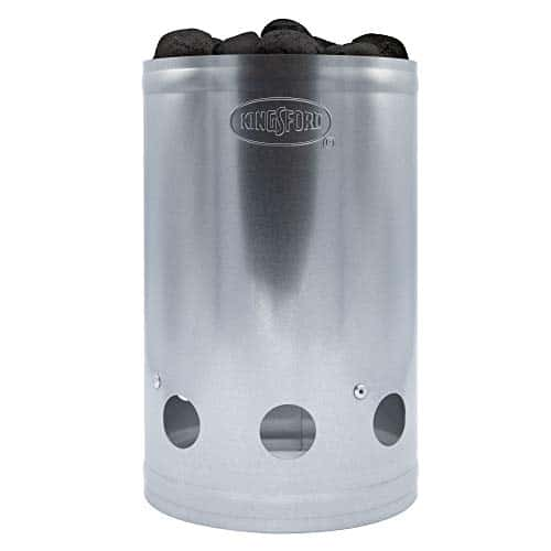 Kingsford Grilling BB0466 Deluxe Charcoal BBQ Chimney Starter Grill Silver 0 3