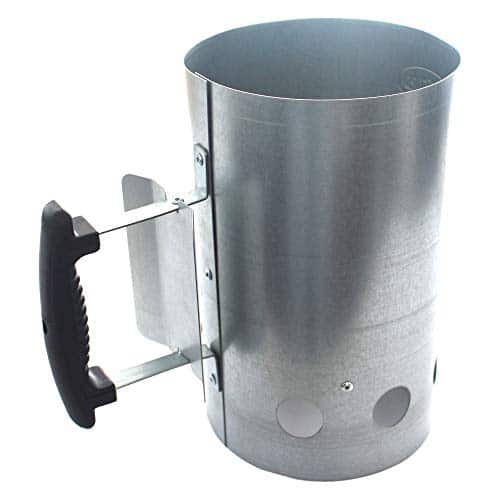 Kingsford Grilling BB0466 Deluxe Charcoal BBQ Chimney Starter Grill Silver 0 5
