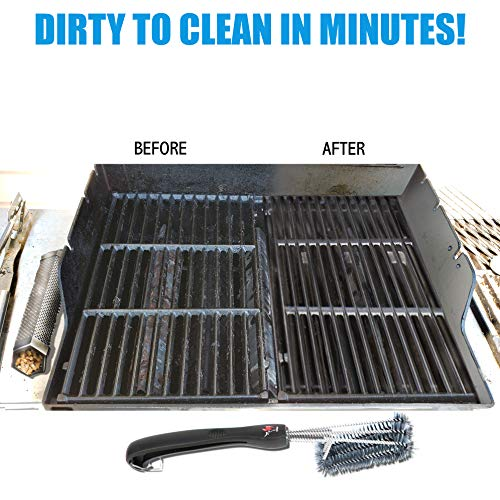 Kona 360 Clean Grill Brush 18 inch Best BBQ Grill Brush Stainless Steel 3 in 1 Grill Cleaner for Effortless Cleaning 0 3