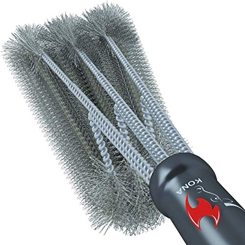 Kona 360 Clean Grill Brush 18 inch Best BBQ Grill Brush Stainless Steel 3 in 1 Grill Cleaner for Effortless Cleaning 0
