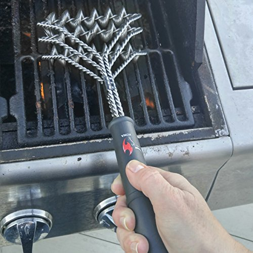 Kona SafeClean Grill Brush Bristle Free BBQ Grill Brush 100 Rust Resistant Stainless Steel Barbecue Cleaner Safe For Porcelain Ceramic Steel Cast Iron Great Grilling Accessories Gift 0 0