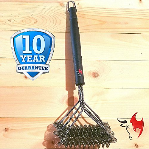 Kona SafeClean Grill Brush Bristle Free BBQ Grill Brush 100 Rust Resistant Stainless Steel Barbecue Cleaner Safe For Porcelain Ceramic Steel Cast Iron Great Grilling Accessories Gift 0 4