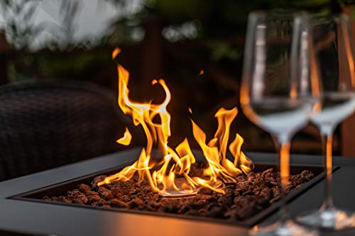 LEGACY HEATING 28 Inch Fire Table Mocha Powder Coating 0 4