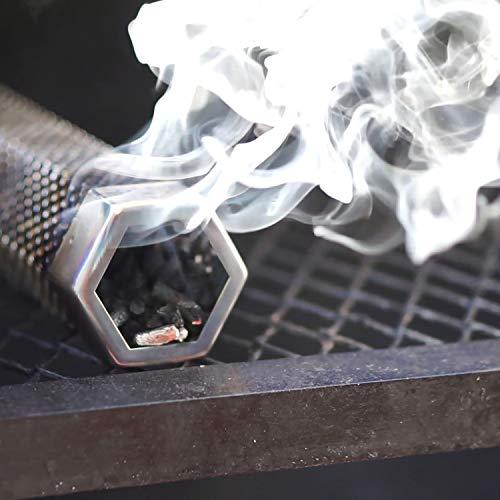 LIZZQ Premium Pellet Smoker Tube 12 inches 5 Hours of Billowing Smoke for Any Grill or Smoker Hot or Cold Smoking Easy Safety and Tasty Smoking Free eBook Grilling Ideas and Recipes 0 1