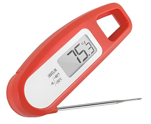 Lavatools PT12 Javelin Digital Instant Read Meat Thermometer for Kitchen Food Cooking Grill BBQ Smoker Candy Home Brewing Coffee and Oil Deep Frying Chipotle 0 0