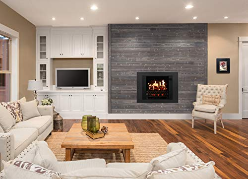 MagikFlame Electric Fireplace 28 Insert Large Black Firebox 30 Flames Large Freestanding 5200 BTU Heater Crackling Log Sound Bluetooth App New Home Design Remodels Family Atmosphere 0 0