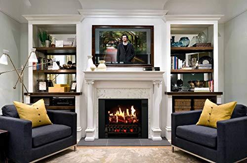 MagikFlame Electric Fireplace 28 Insert Large Black Firebox 30 Flames Large Freestanding 5200 BTU Heater Crackling Log Sound Bluetooth App New Home Design Remodels Family Atmosphere 0 1