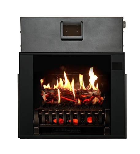 MagikFlame Electric Fireplace 28 Insert Large Black Firebox 30 Flames Large Freestanding 5200 BTU Heater Crackling Log Sound Bluetooth App New Home Design Remodels Family Atmosphere 0