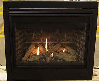 Majestic Quartz QUARTZ32IN Direct Vent Natural Gas Burning Fireplace with Intellifire Ignition 32N 0 1