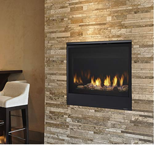Majestic Quartz QUARTZ32IN Direct Vent Natural Gas Burning Fireplace with Intellifire Ignition 32N 0