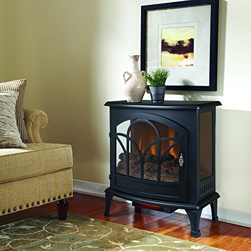 Muskoka Curved Front Black 25 Infrared Panoramic Electric Stove 0 0