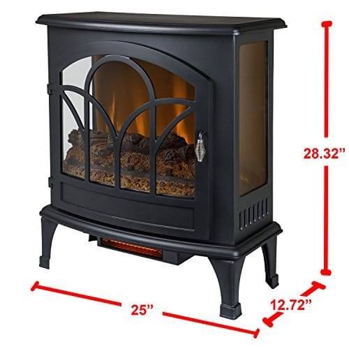 Muskoka Curved Front Black 25 Infrared Panoramic Electric Stove 0 3
