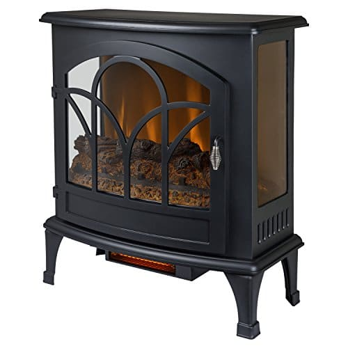Muskoka Curved Front Black 25 Infrared Panoramic Electric Stove 0