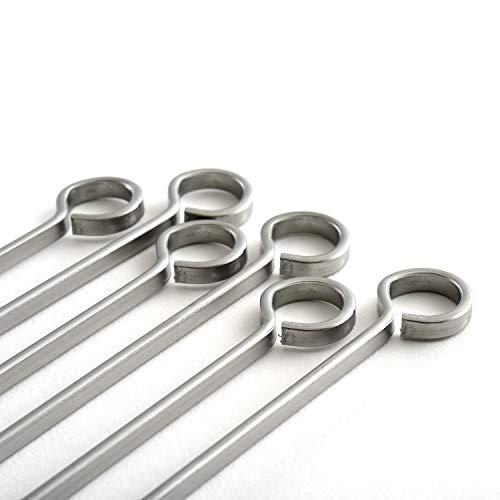 Norpro Stainless Steel 14 Inch Skewers Set of 6 Silver 0 1