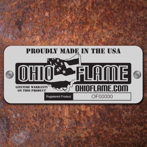 Ohio Flame 30 Patriot Fire Pit Made in USA Natural Steel Finish 0 1