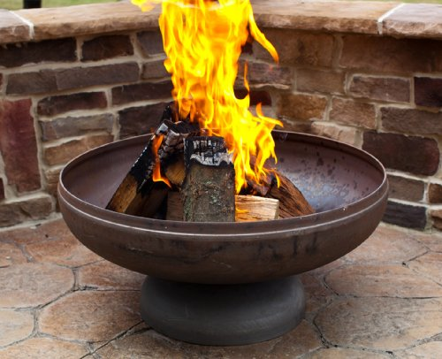 Ohio Flame 30 Patriot Fire Pit Made in USA Natural Steel Finish 0
