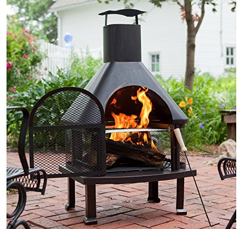 Outdoor Fireplace Wood Burning Outdoor Fireplace with Smokestack Gather Around the Fire in Your Backyard with This Modern Outdoor Fireplace 0 0