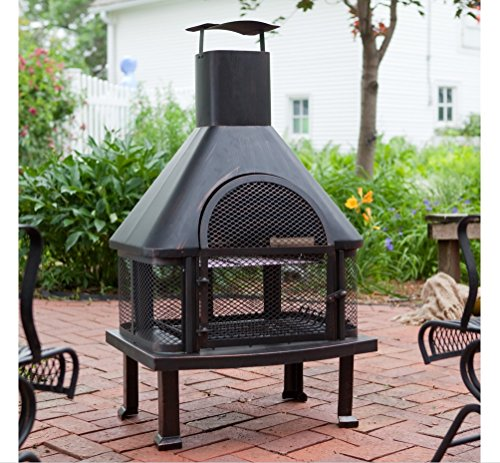 Outdoor Fireplace Wood Burning Outdoor Fireplace with Smokestack Gather Around the Fire in Your Backyard with This Modern Outdoor Fireplace 0 1