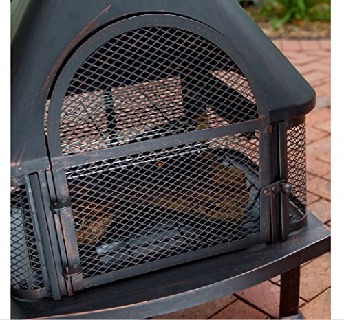Outdoor Fireplace Wood Burning Outdoor Fireplace with Smokestack Gather Around the Fire in Your Backyard with This Modern Outdoor Fireplace 0 4