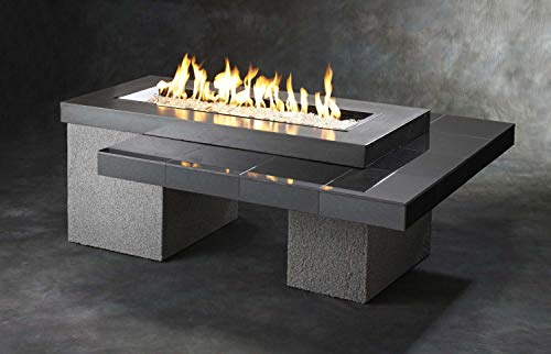 Outdoor Greatroom Uptown Gas Fire Pit with 42x12 Inch Burner Black 0 0