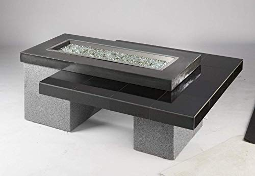 Outdoor Greatroom Uptown Gas Fire Pit with 42x12 Inch Burner Black 0 3