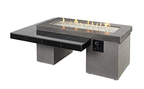Outdoor Greatroom Uptown Gas Fire Pit with 42x12 Inch Burner Black 0