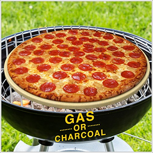 Pizza Stone for Best Crispy Crust Pizza Only Stoneware with Thermarite Engineered Tuff Cordierite Durable Certified Safe for Ovens Grills 14 Round 58 Thick Bonus Recipe Ebook Free Scraper 0 2