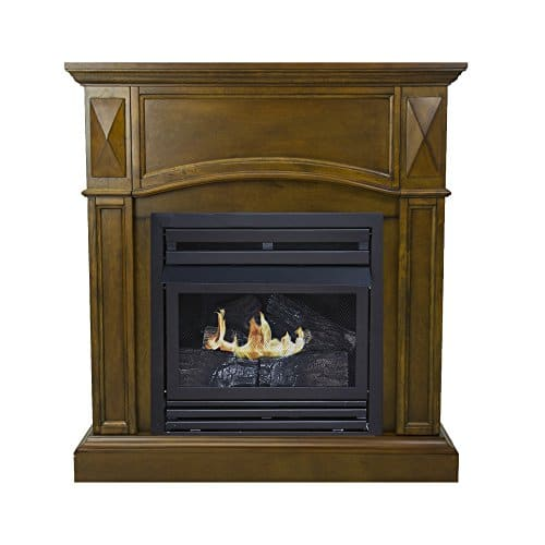 Pleasant Hearth 36 Compact Heritage 20000 Natural Gas Vent Free Fireplace System 20K BTU 0 0