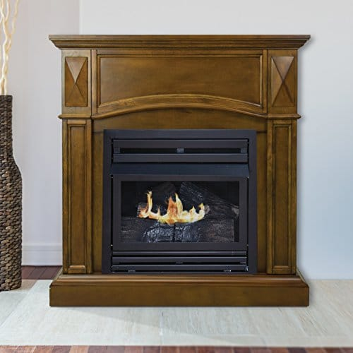 Pleasant Hearth 36 Compact Heritage 20000 Natural Gas Vent Free Fireplace System 20K BTU 0 5