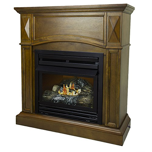 Pleasant Hearth 36 Compact Heritage 20000 Natural Gas Vent Free Fireplace System 20K BTU 0