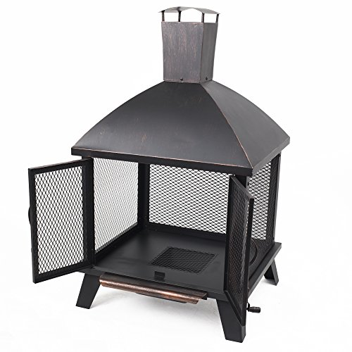 Pleasant Hearth OFW577HC Stratford House Wood Burning Fire Pit 0 1