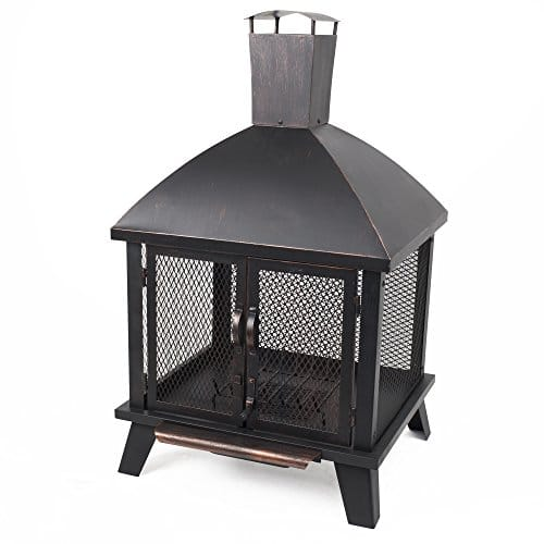Pleasant Hearth OFW577HC Stratford House Wood Burning Fire Pit 0