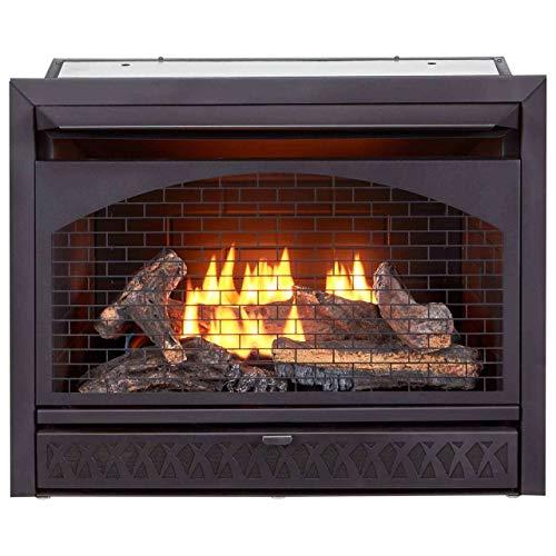 ProCom FBNSD28T Ventless Dual Fuel Firebox Insert 29 in 0