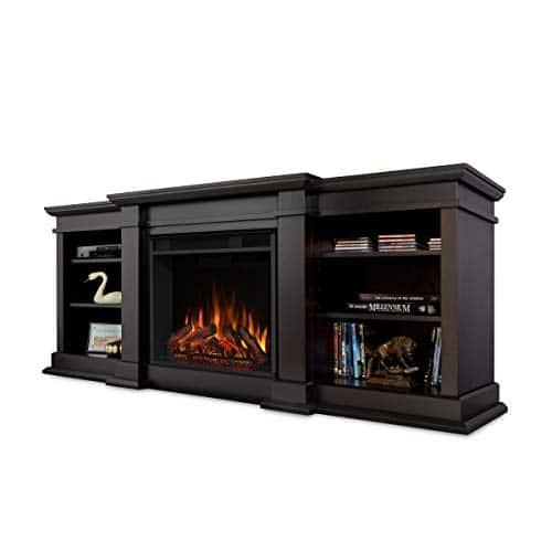 Real Flame Fresno Electric Fireplae Media Fireplace Large Dark Walnut 0 0