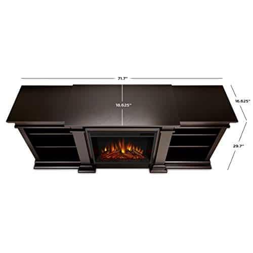 Real Flame Fresno Electric Fireplae Media Fireplace Large Dark Walnut 0 1